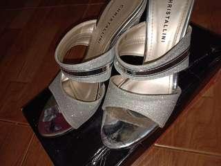 Heels Silver Cantik