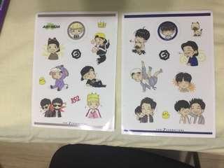 GOT7 fan art stickers