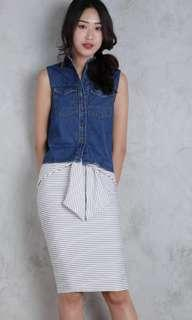 BNWT TTR HILDA DENIM TOP