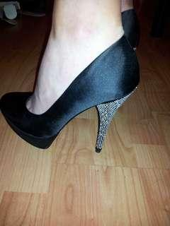 Black Heels with Sparkly Heel