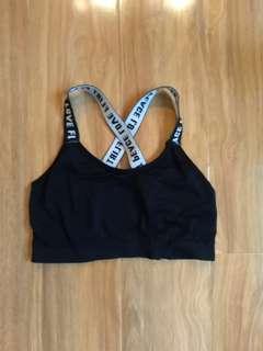 Peace love flirt sports bra