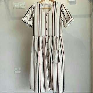 Dress babydoll white
