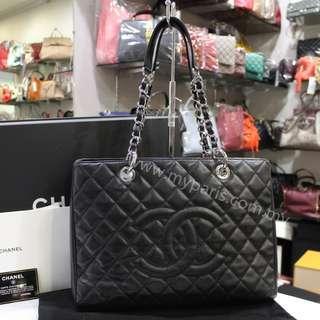 Chanel Black Caviar Grand Shopping Tote GST SHW