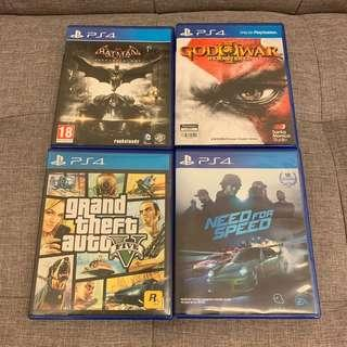 Ps4 Games - Batman ! God of War ! GTA ! Need for Speed