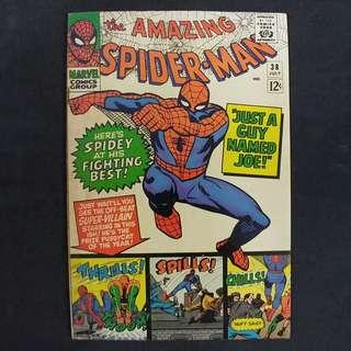 amazing Spider-Man #38(1966) 2nd appearance of Mary Jane - Stan Lee story, Last Steve Ditko Art! - Marvel Comics / Silver Age