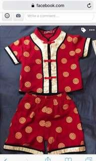 Chinese New Year Clothes for 1 year old.