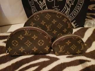 Loui vuitton make up bags coin purse 3 set