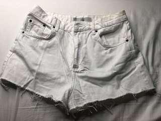 *REPRICED TOPSHOP WHITE DENIM SHORTS