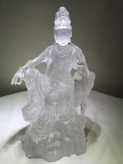 古法琉璃自在观音菩萨