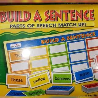 Educational sentence making game