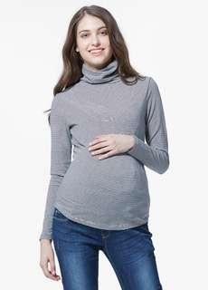 🚚 媽媽餵 mamaway 保暖高領中空紗孕哺衛生衣 高領哺乳衣 高領孕婦裝 秋冬哺乳衣 秋冬孕婦裝