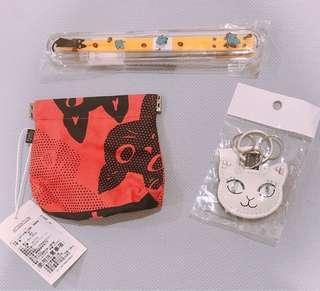 🚚 日本專櫃Noafamily黑貓草莓黃色環保筷、日本進口(筷子區)