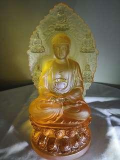 古法琉璃阿弥陀佛 3.2kg