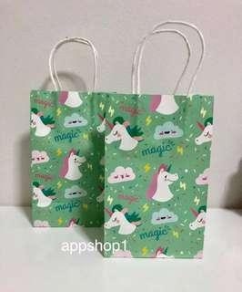 Unicorn 🦄 paper bag- kids party goody bags, door gifts carrier
