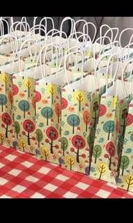 Tropical bird paper bag- children birthday party gift packages
