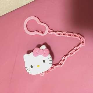 Hello Kitty 掛鈎 安撫奶嘴鏈 pacifier holder