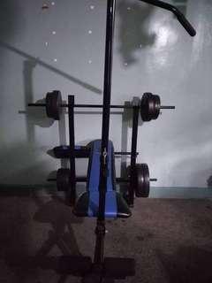 gym set - adjustable bench/bench press