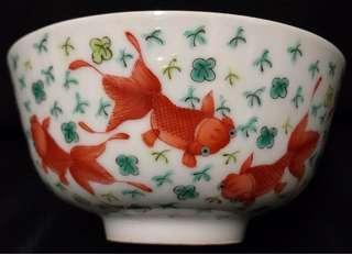粉彩金魚圖碗