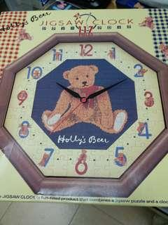 sanrio holly's bear 自製併圖掛牆鐘