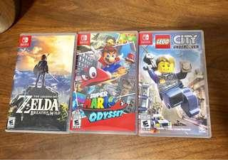 Nintendo Switch Games: Zelda, Super Mario Odyssey, Lego City Undercover