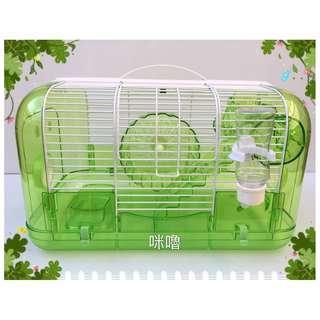 。╮♥寶貝咪嚕的家♥╭。果凍閣樓型鼠籠~附轉輪、飼料盆、飲水器、樓梯、樹幹