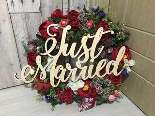 Just married 車花花牌 (只用過一次)