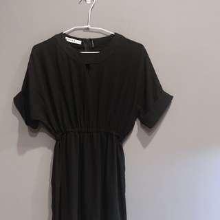 🚚 雪紡黑洋裝