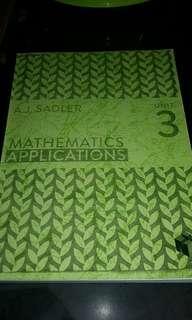 Mathematics Applications Unit 3 # POST1111