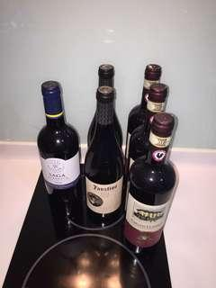 6x Bottle Wine from Italy / France / Spain.