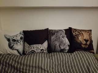 聖誕優惠 貓咪& 動物圖案cushion 45 cmx45 cm