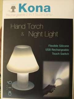 🌛🌛🌛Rechargeable 2-in-1 Touch Lamp-2合1抬燈+電筒充電器
