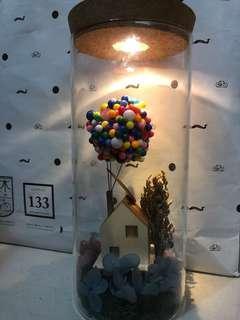 LED 保鮮花小木屋擺設
