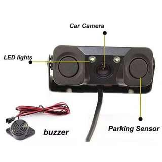 New Car Van Lorry Truck Reverse Backup Camera With Distance Radar Sensors - Distance Indication & Buzzer