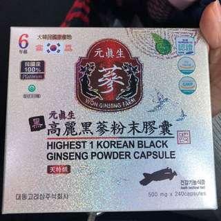 🚚 韓國高麗人蔘 六年蔘 黑蔘 500mg 240錠
