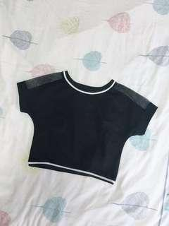 Black Sheer Crop Top
