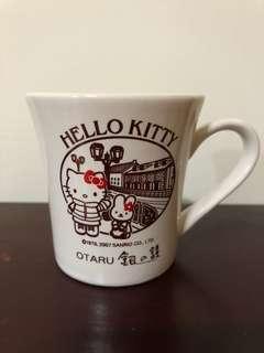🚚 北海道小樽 銀之鐘 kitty杯子