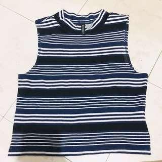 H&M stripe croptop