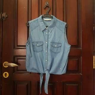 Bershka Denim Top