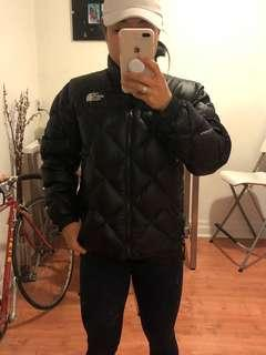 North face quilted puffed jacket black small
