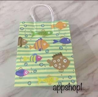 Ocean theme paper bag, children's birthday celebration goodies bag packages