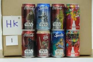 90至2000年代可樂罐,每次出10組,如看啱請通知要那組!每組各50元正!