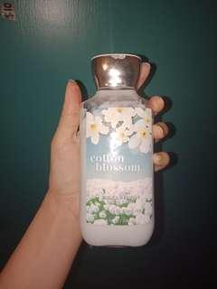 Cotton body lotion with shea butter and vitamin E
