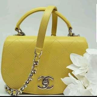 Chanel coco top handle flap