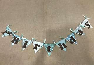 Happy Birthday Bunting/ Party Banner
