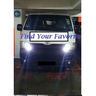 Toyota Hiace on T10 super bright CREE project lens types for pole lights - self installed and self collection (read Description)