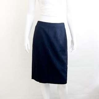 7f24ef9f3e Auth J CREW Super 120's Black Wool Textured Weave Pencil Skirt US 10 VGUC