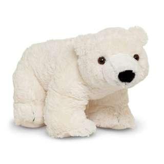 Brand New Melissa and Doug Glacier Polar Bear Stuffed Animal Stuff Toy Lovey Kids Favorite companion
