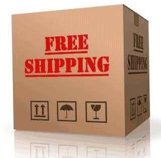 Everything free shipping before December 2018