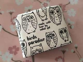 Owl Graphic Tri-fold Wallet by Salad from Bauhaus