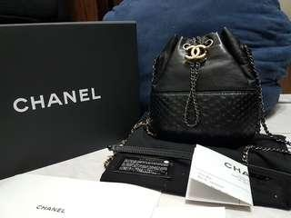 🚚 正品Chanel gabrielle 蟒蛇皮 小羊皮流浪包 全配附購證 coco jumbo